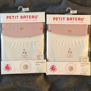 Petit Bateau New culottes underwear, sz 10A